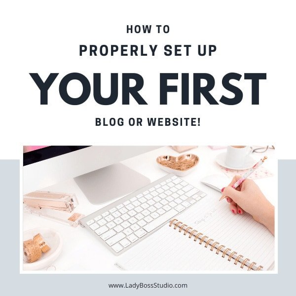 how to setup your first blog or website