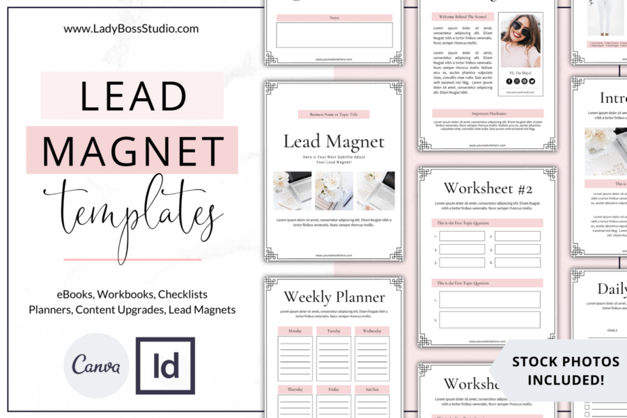 Blush Lead Magnet Templates