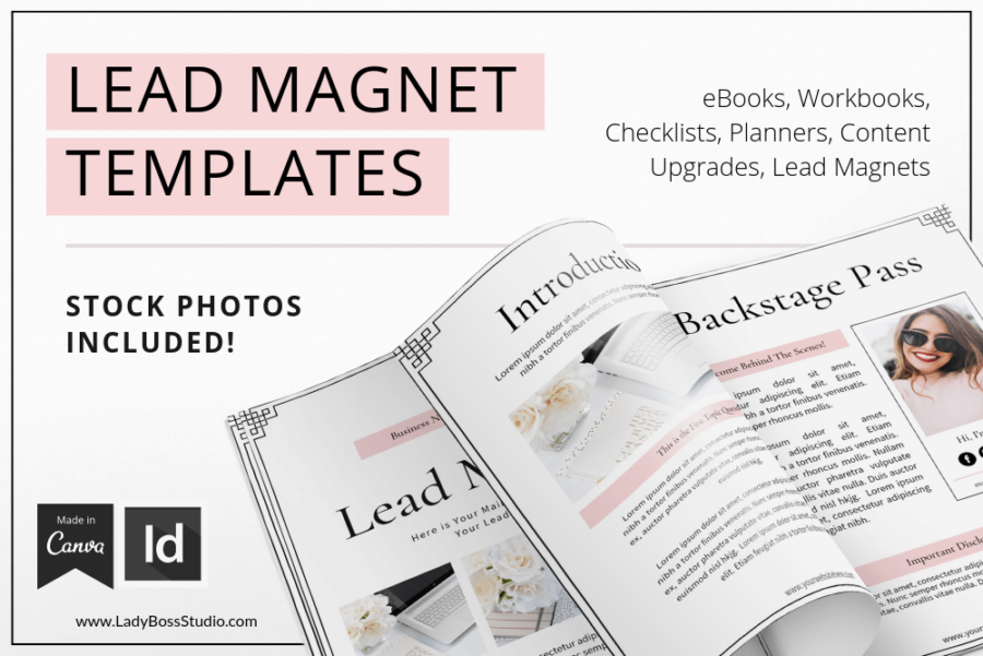 Blush Lead Magnet Templats for Canva & InDesign