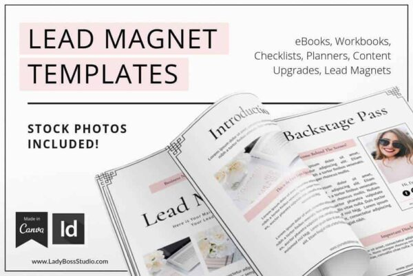 Blush Lead Magnet and Freebie Templates