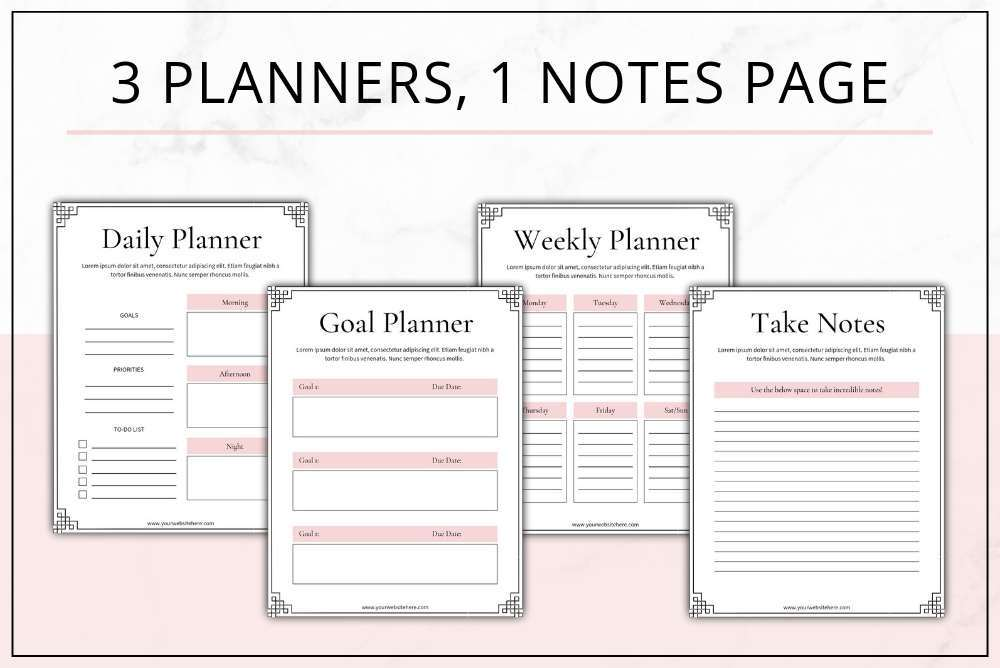 graphic about Freebie Planner referred to as Blush Decide-within Freebie Templates for Canva InDesign