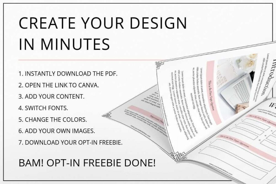 Blush Opt-in Freebie and Lead Magnet Templates