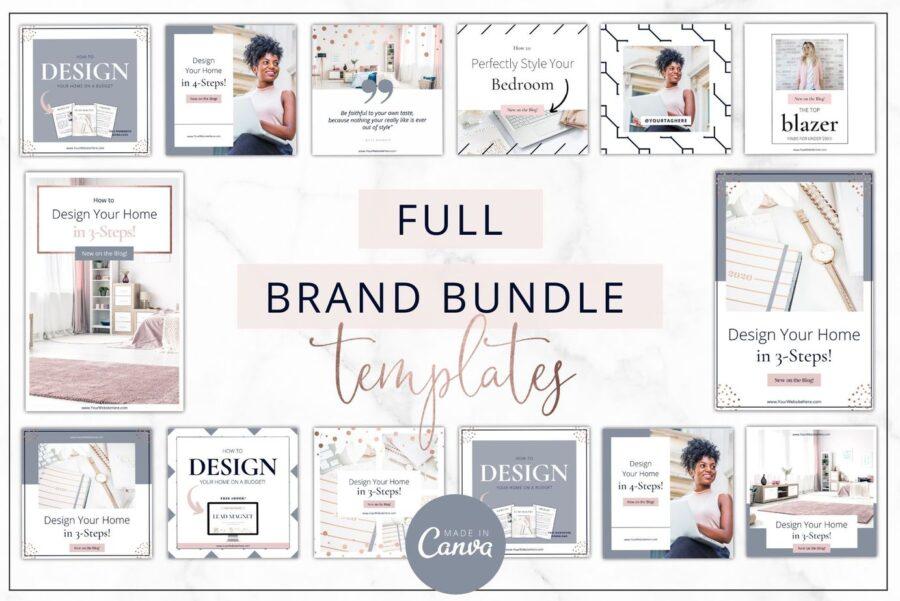 Rose Gold Brand Templates Bundle
