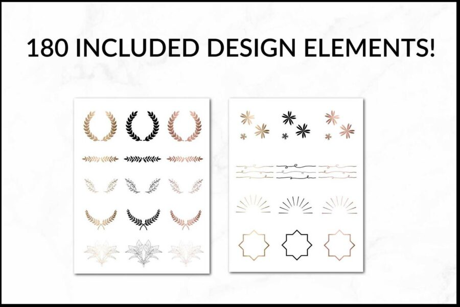 DIY Logo Pack & Pre-Made Logo Elements for Canva