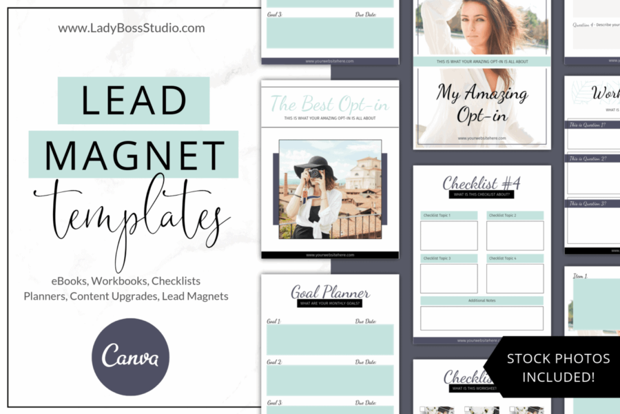 Turquoise Lead Magnet Templates
