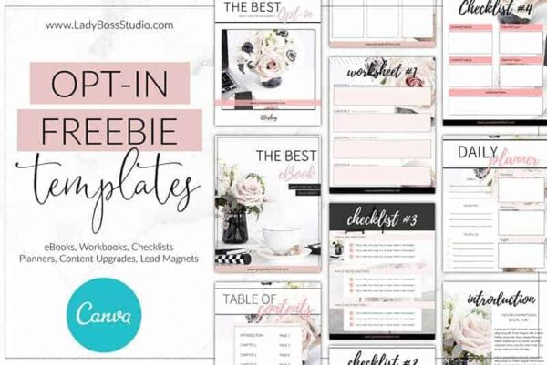 Blush Opt-in Freebie Templates for Canva