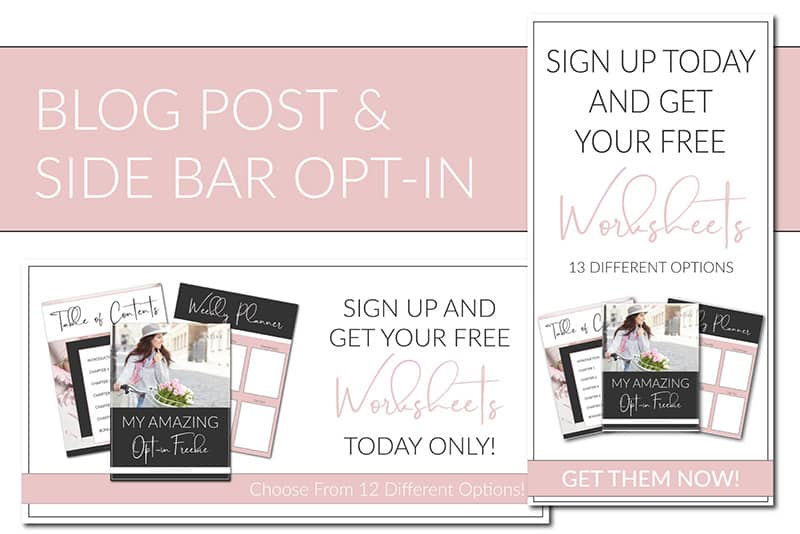 blush opt in freebie templates for canva lady boss studio