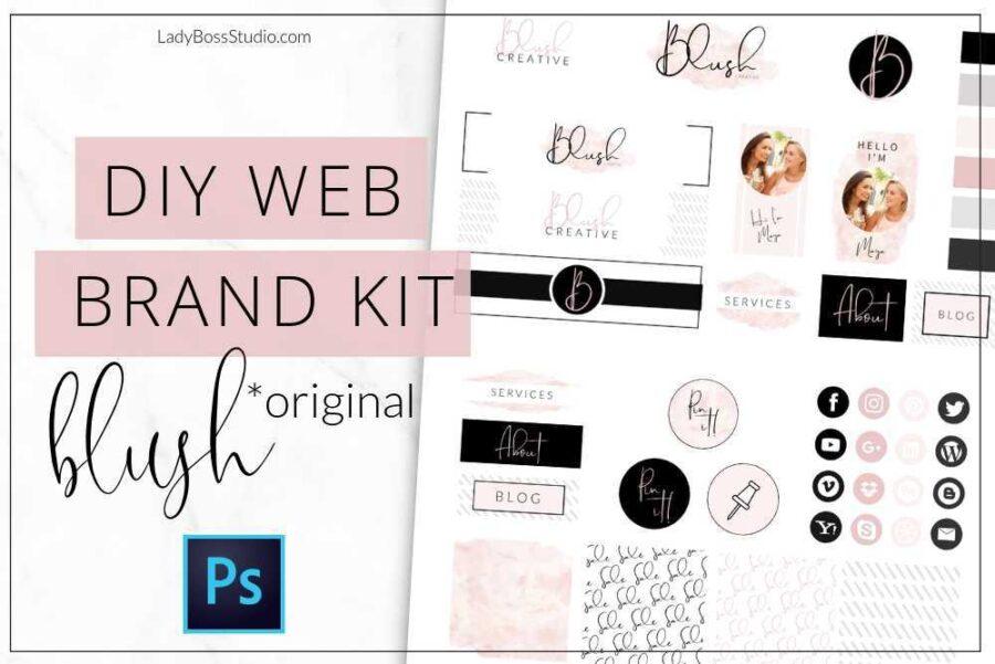 Original Blush Web Branding Kit Photoshop