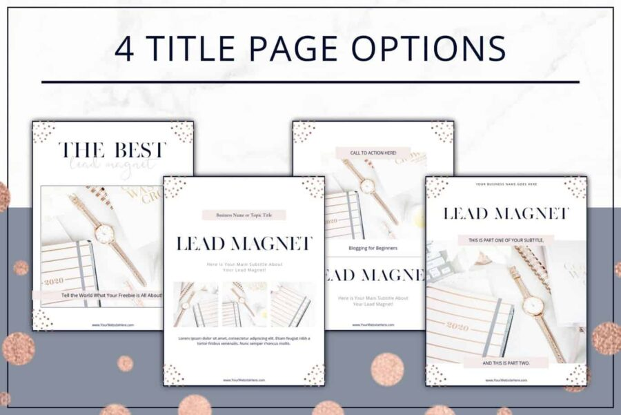 Rose Gold Lead Magnet and Freebie Templates
