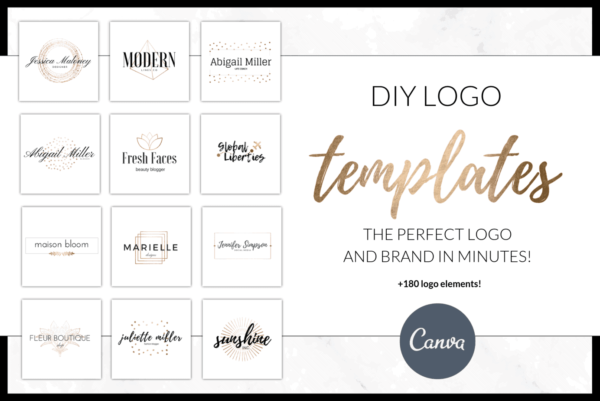 DIY Logo Pack & Pre-Made Logo Elements for Canva