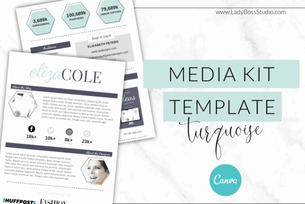 Turquoise Media Kit - Canva 1