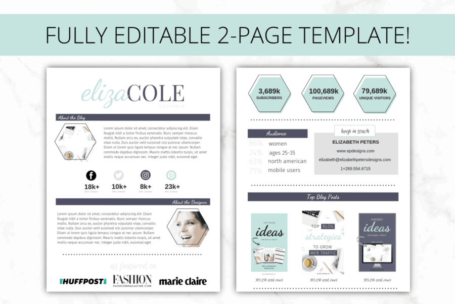 Turquoise Media Kit - Canva 1