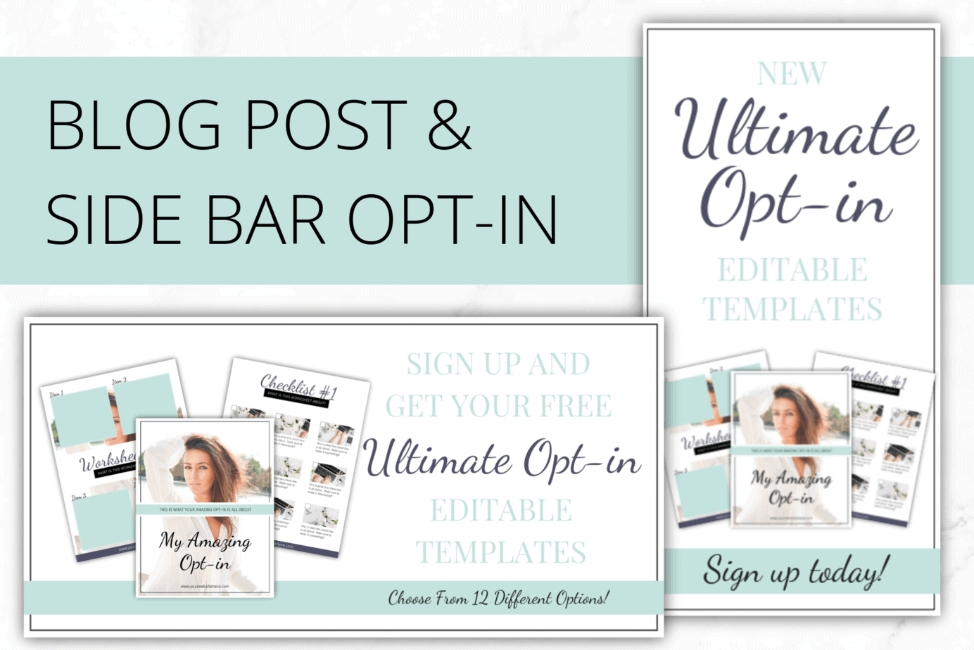 Turquoise Opt-in Freebie Templates for InDesign