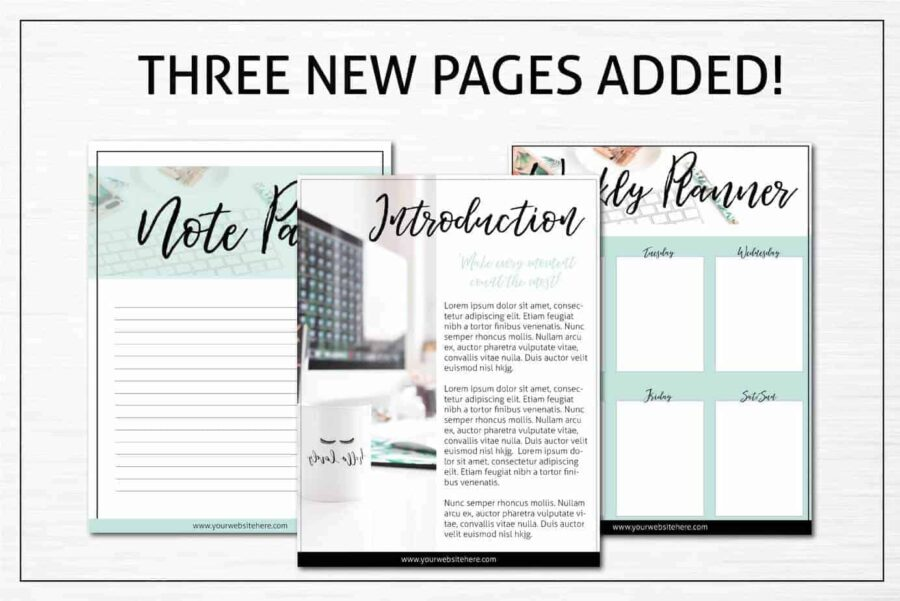 Turquoise Opt-in Freebie Templates for PowerPoint