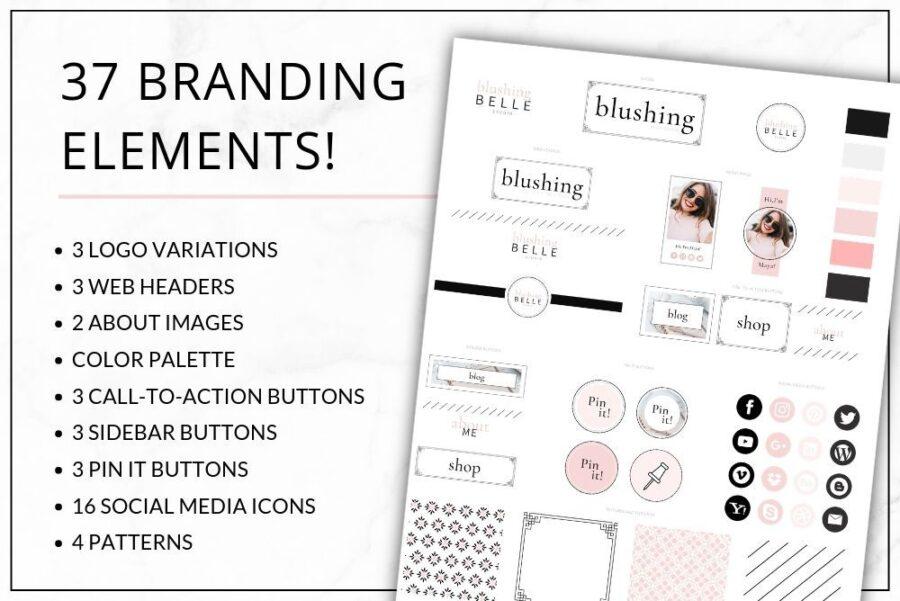 Blush Web Branding Kit for Canva (1)