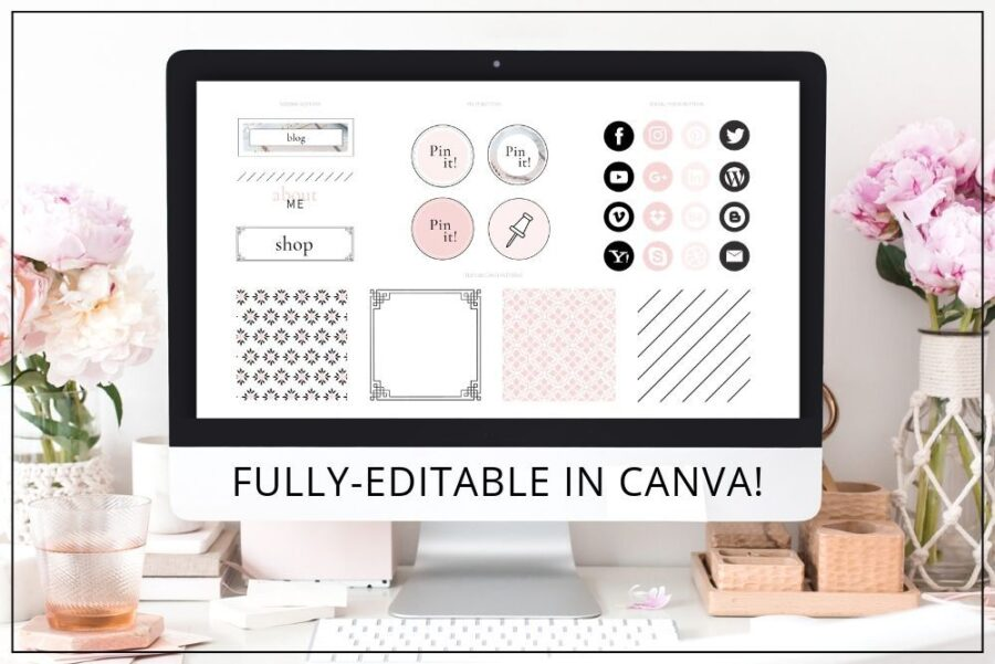 Blush Web Branding Kit for Canva (1)