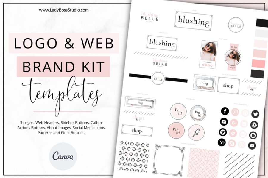 Blush Website Branding Kit