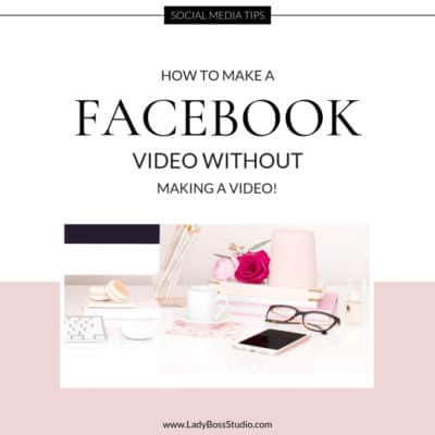 How to Make a Facebook Video Without making a video