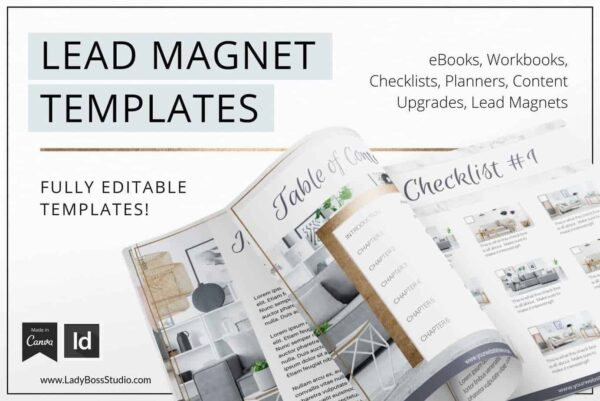 Modern Gold Lead Magnet Templates