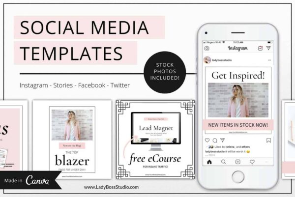 Blush Social Media & Pinterest Templates