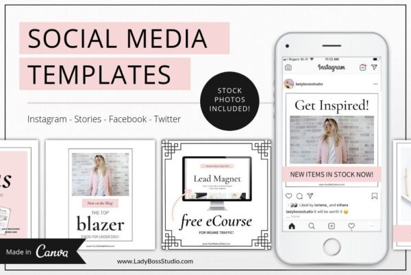 Blush Social Media and Pinterest Templates (2)