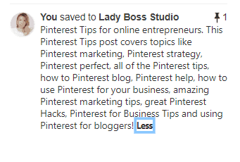 Pinterest Tips - Pin Description