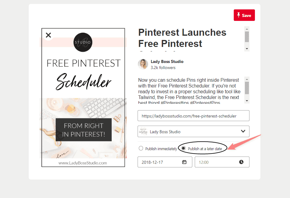 Free Pinterest Scheduler - Add all Pin Information