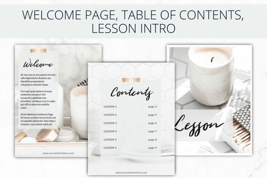 Nurtured Life eBook Templates
