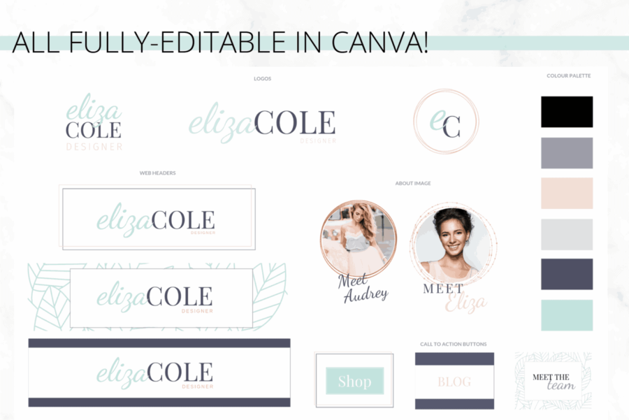 Turquoise Brand Kit Template