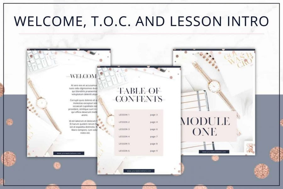 Rose Gold eBook and Workbook Templates