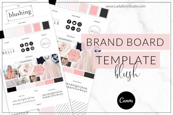 Blush Brand Board Template