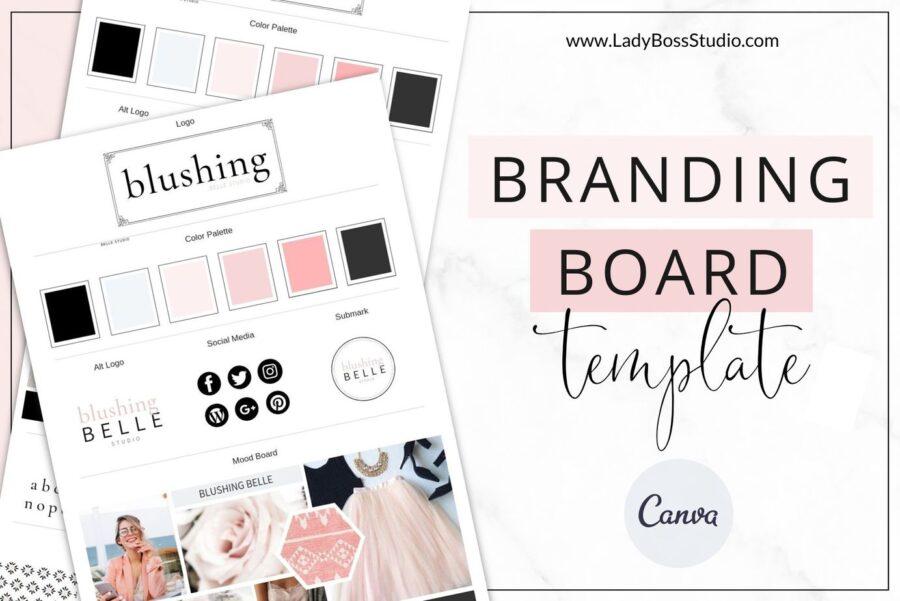 Blush Branding Board Templates