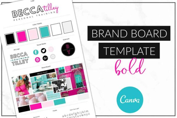 Bold Brand Board Template