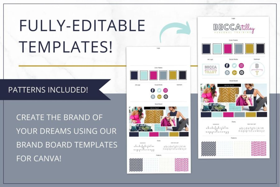 Bold Branding Board Template for Canva & InDesign