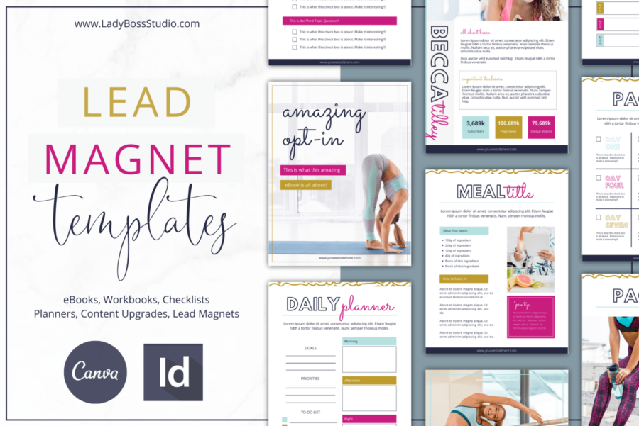 Bold Lead Magnet Templates for Canva & InDesign
