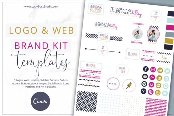 Bold Website Branding Kit for Canva
