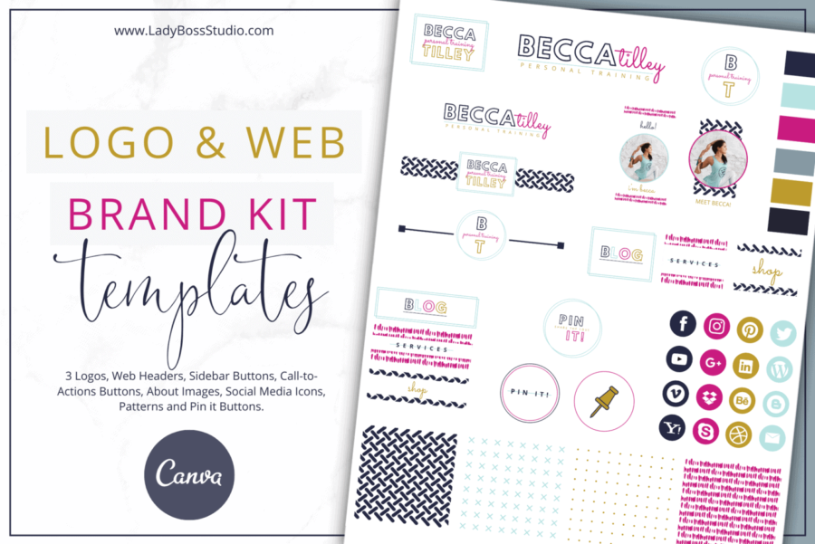 Bold Website Branding Kit for Canva