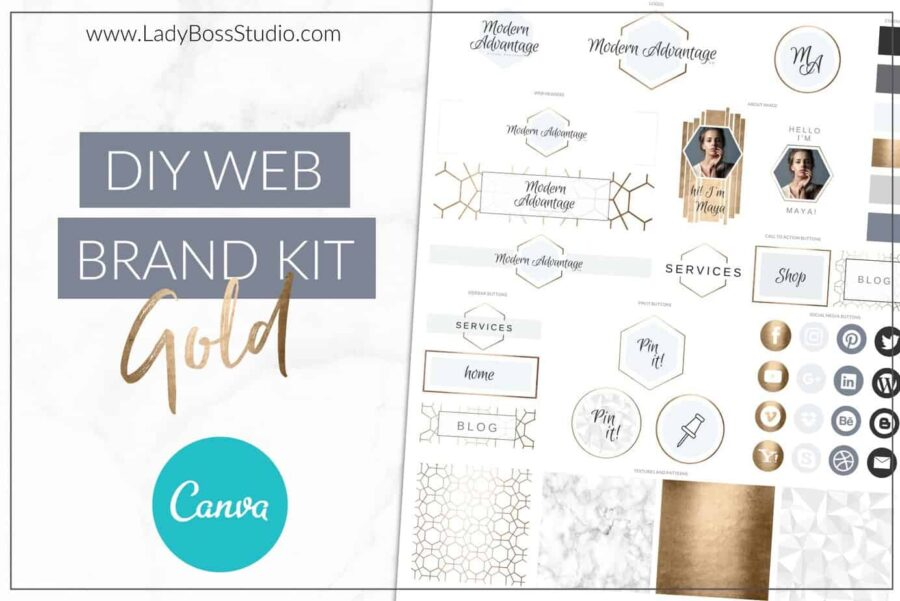 Modern Gold Web Branding Kit