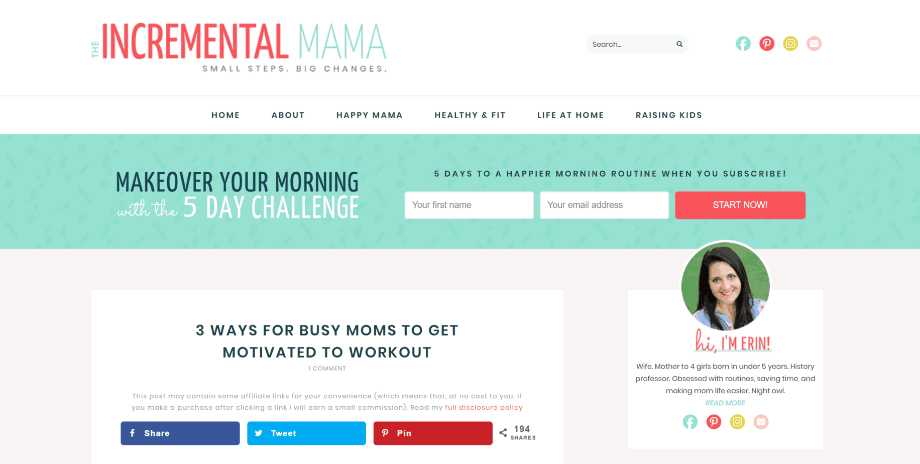 Market your Opt-in Freebie - The Incremental Mama - Above the Fold