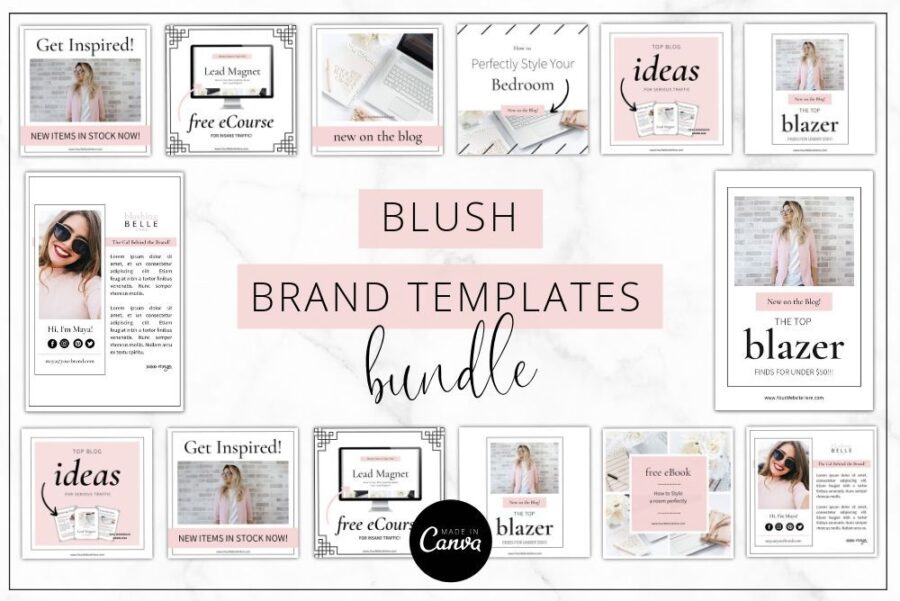 Blush Brand Templates Bundle