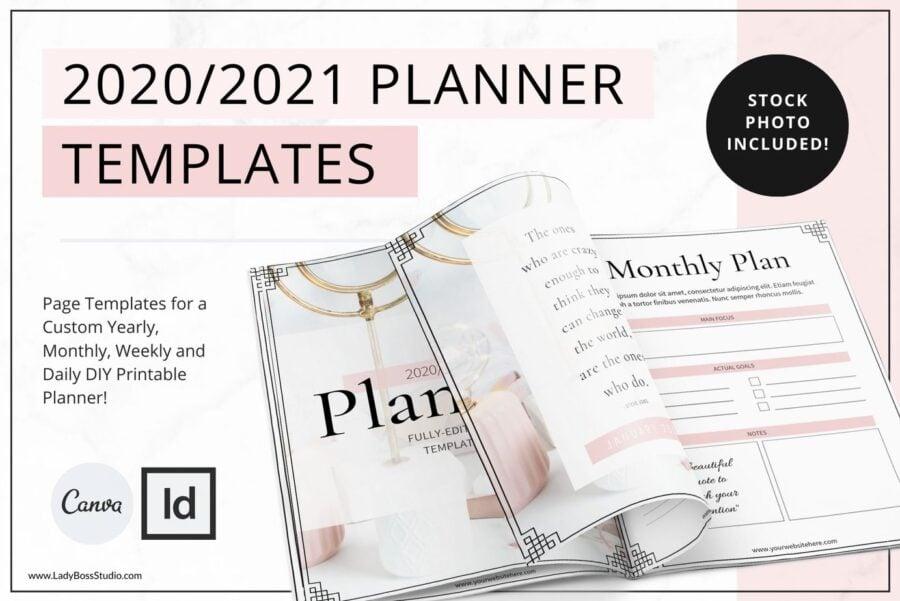 Blush Planner Templates 2020 & 2021