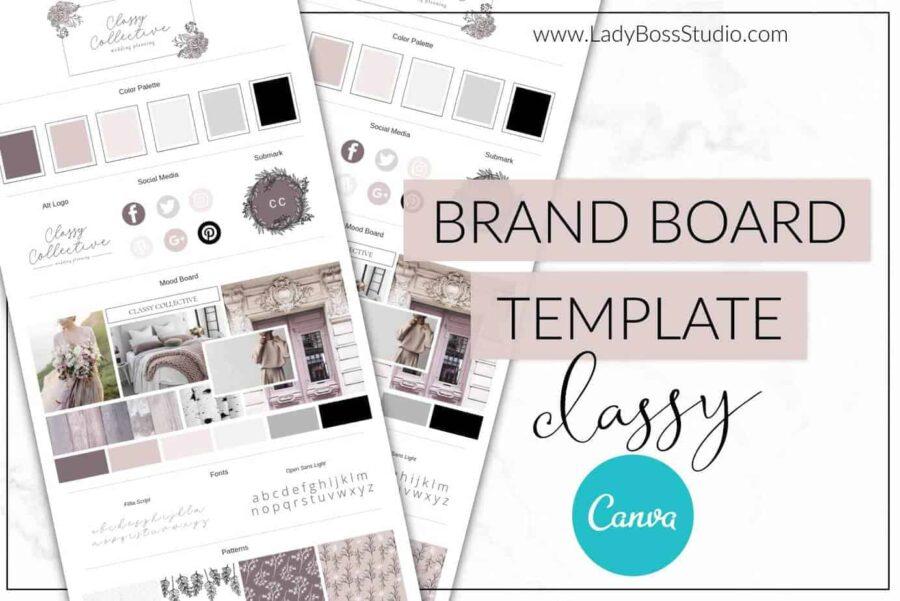 Classy Collective Brand Board Template