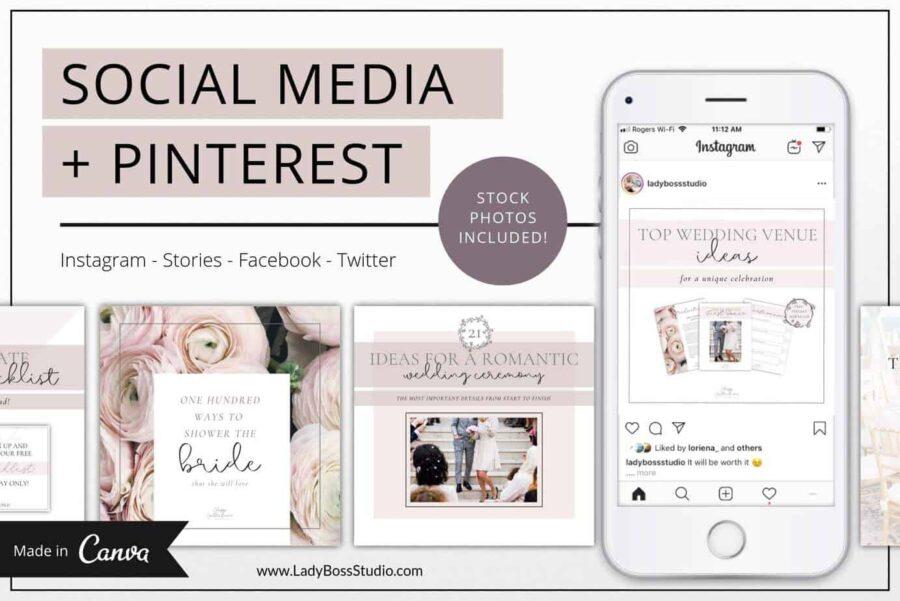 Classy Social Media & Pinterest Templates