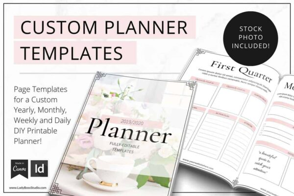 Blush PLanner Templates for Canva and InDesign
