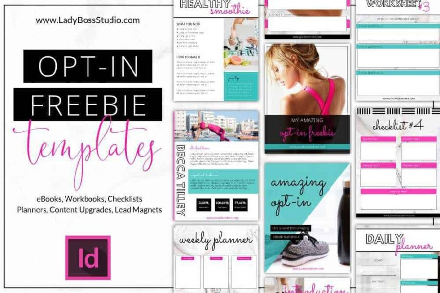 These Bold Opt-in Freebie Templates for InDesign are exactly what your business needs to create your own awesome Opt-in Freebie! Grow your e-mail list on auto-pilot!