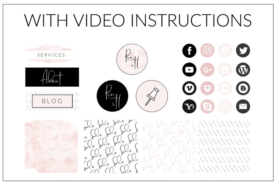 Original Blush Web Branding Kit - Canva