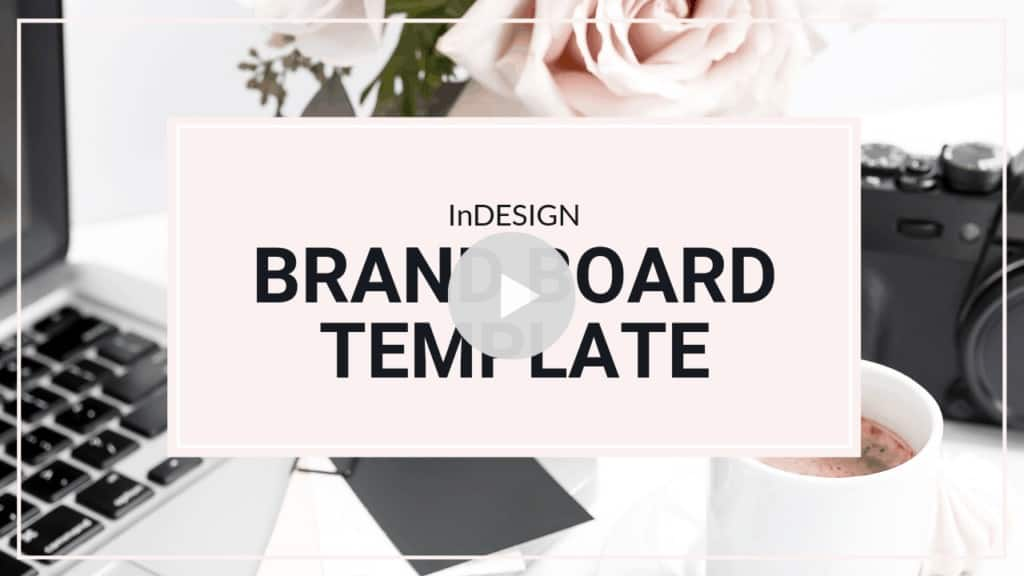 Turquoise Brand Board Template for InDesign