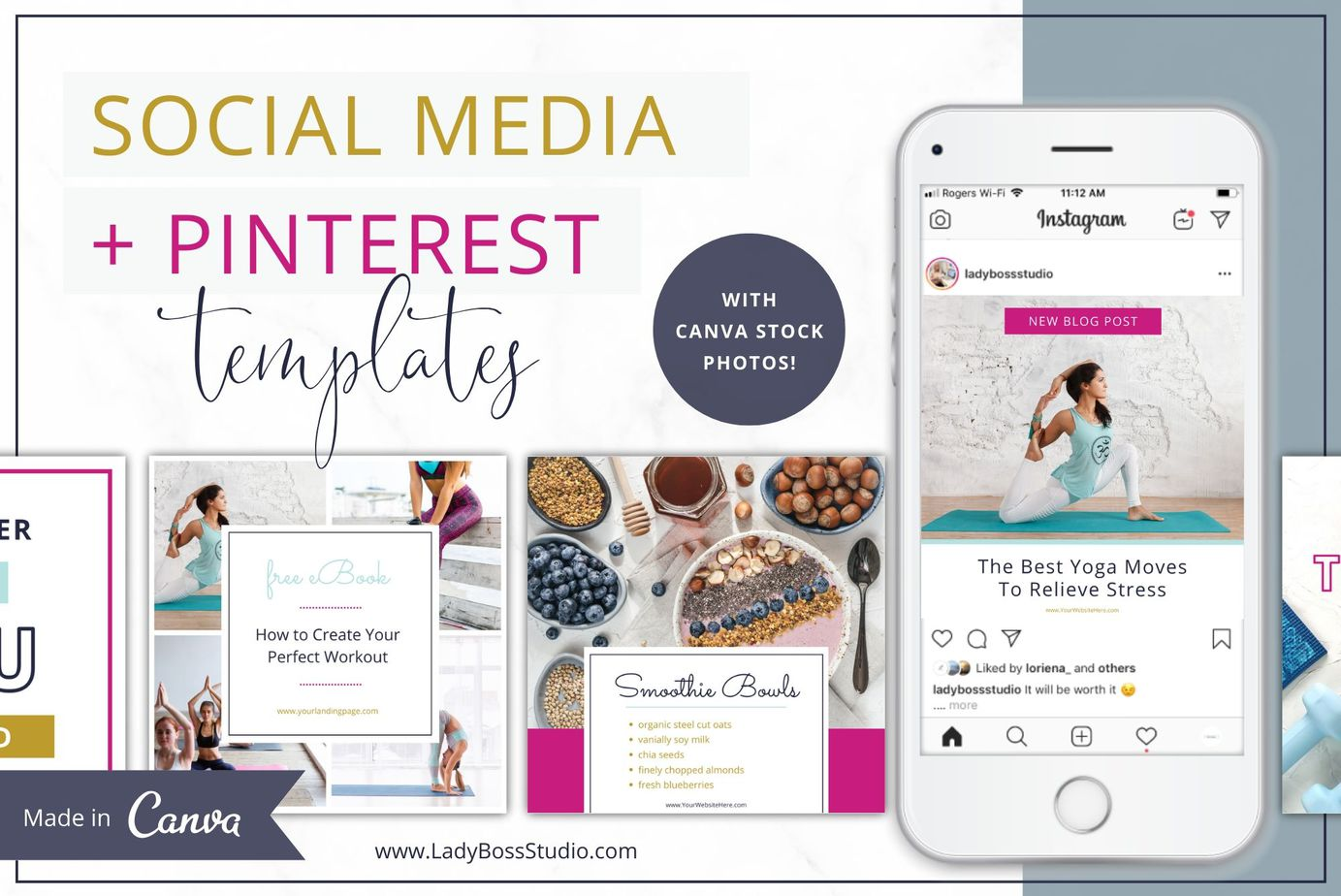 Bold Social Media and Pinterest Templates