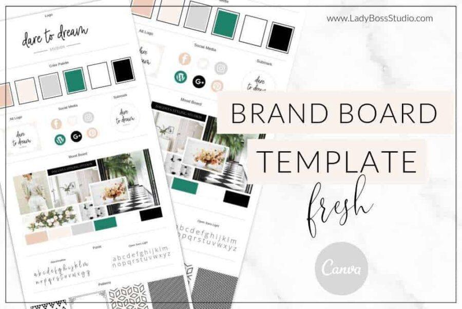 Fresh Brand Board Template