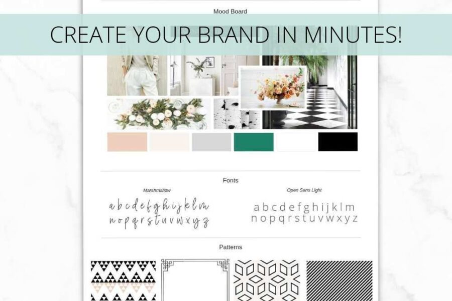 Fresh Brand Board Template